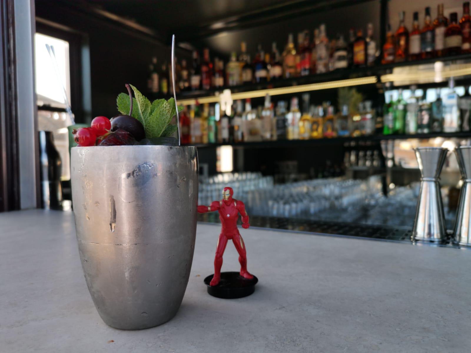 drink IRON MAN-GO PUNCH di Nicholas Pinna barman Hotel Locarno di Roma